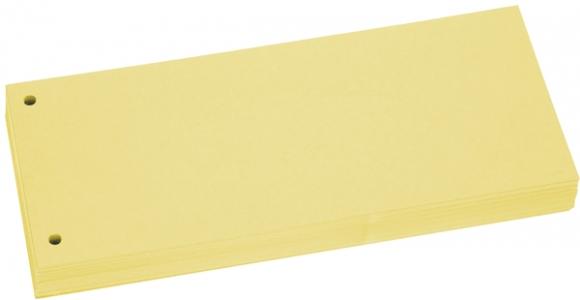 Büroring Trennstreifen gelb 10,5x24cm, 190g/qm Karton, gelocht