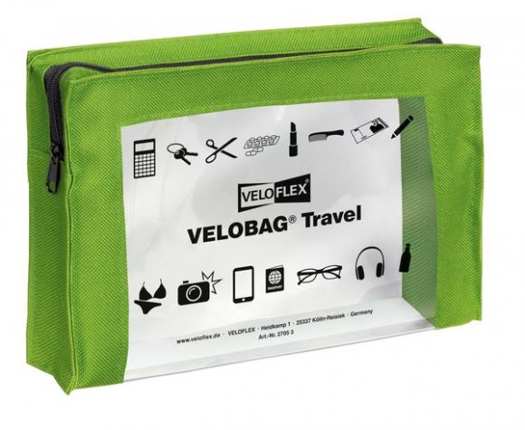 Velobag Travel A5, 230x160, grün PVC-Folie transparent mit farbiger