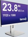 LCD/LED Monitor 2462W PV silber 23,8 Full-HD-Display, AMVA-Panel