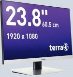 LCD/LED Monitor 2462W silber 23,8 Full-HD-Display, AMVA-Panel