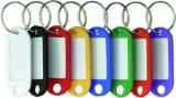 Schlüsselanhänger 8-fach sortiert mit beschriftbaren Etiketten