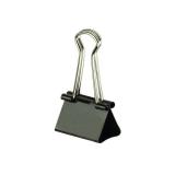 Foldbackklammern, schwarz, vernickelt, 19mm lang