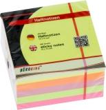 Büroring Haftnotiz Würfel FSC 75x75mm neon, 450 Blatt