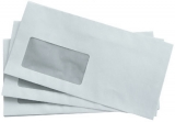 Briefumschlag, DIN Lang, mit Fenster selbstklebend, weiß, 75g