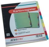 Büroring Karton Register A4 10-tlg. 5-farbig, 175g/qm