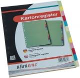 Büroring Karton Register A4 12-tlg. 5-farbig, 175g/qm