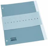 Büroring Register A4, 5tlg., Taben auswechselbar, PP-Folie, grau,