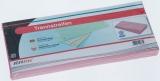 Büroring Trennstreifen rosa 10,5x24cm, 190g/qm Karton, gelocht