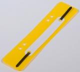 Heftstreifen kurz Kunstst. gelb mit Kunststoffdeckleiste