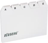 Büroring Leitkarten-Register A5 A-Z, PP-Folie, 25-teilig, weiß