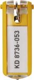 Schlüsselanhänger Key Clip gelb aus Kunststoff mit sichtbarem