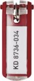 Schlüsselanhänger Key Clip rot aus Kunststoff mit sichtbarem