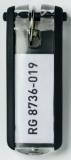Schlüsselanhänger Key Clip sw aus Kunststoff mit sichtbarem