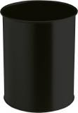 Metall Papierkorb rund, 14,7 Liter 315mm hoch aus Stahl schwarz