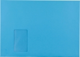 Briefumschlag C4 HK mit Fenster 120g intensiv-blau 324x229mm