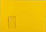 Briefumschlag C4 HK mit Fenster 120g goldgelb 324x229mm