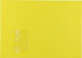 Briefumschlag C4 HK mit Fenster 120g intensiv-gelb 324x229mm