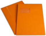 Briefumschlag C4 HK mit Fenster 120g orange 324x229mm