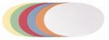 Moderationsovale 11x19cm 500 Stück in 6 Farben sortiert