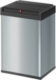 Hailo Großraum-Abfallbox Big-Box 40 Liter, Stahlblech silber