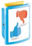 Sammelbox abschließbar, transluzent- blau, zum Hinstellen oder zur