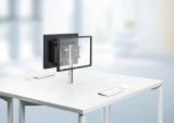 Dual-Monitorhalter My twin fix C mit Zwinge, silber # 910+1119+000