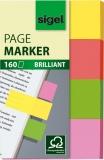 Haftmarker brillant 20x50mm 4 Farben gelb/orange/grün/rot