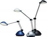Arbeitsplatzleuchte LED Space, silber satiniert, Energieklasse A